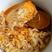 Red Mole with Orange Rice