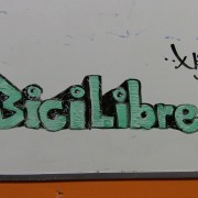A drawing on the white board at Bici Libre