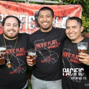 The owners of Pacific Plate Brewery