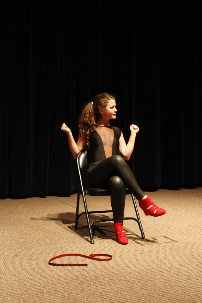 """Genevieve Zimmerman gets the audience worked up with her different tones in moans. Her performance, """"The Woman Who Loved to Make Other Vaginas Happy"""" included its very own UCLA moan!"""