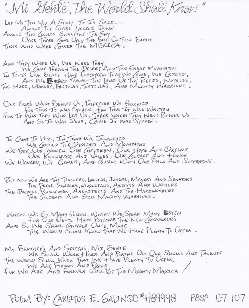 Carlitos Galindo's Poem (2)