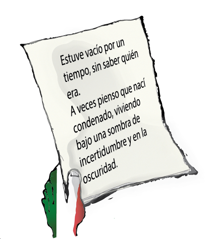 "illustration of hand holding text from Martí's ""Nuestra América"""