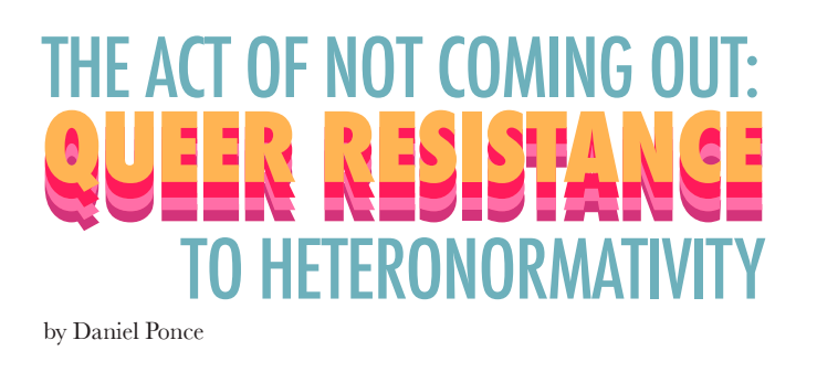 "image of title ""the act of not coming out: aueer resistance to heteronormativity"
